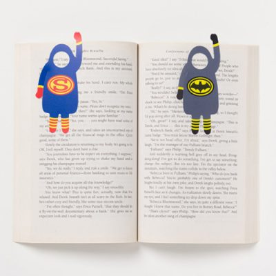 Book Heroes photo bookmark - on creative gifts gallery of re,play404