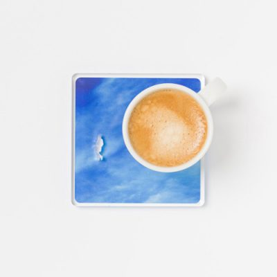 A Piece of Sky drink coaster - on re,play404 with amazon promo code