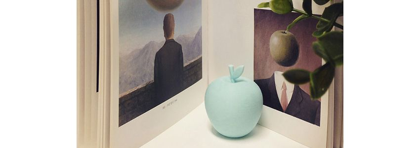 3D Printable Object – blue apple by Thingiverse 3D model