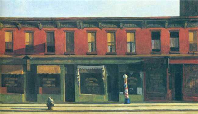 Image of the painting by Hopper on a blog post of re,play404 Gifts