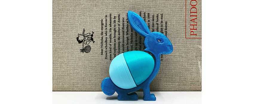 ABS print speed: with a 3D printed Easter bunny