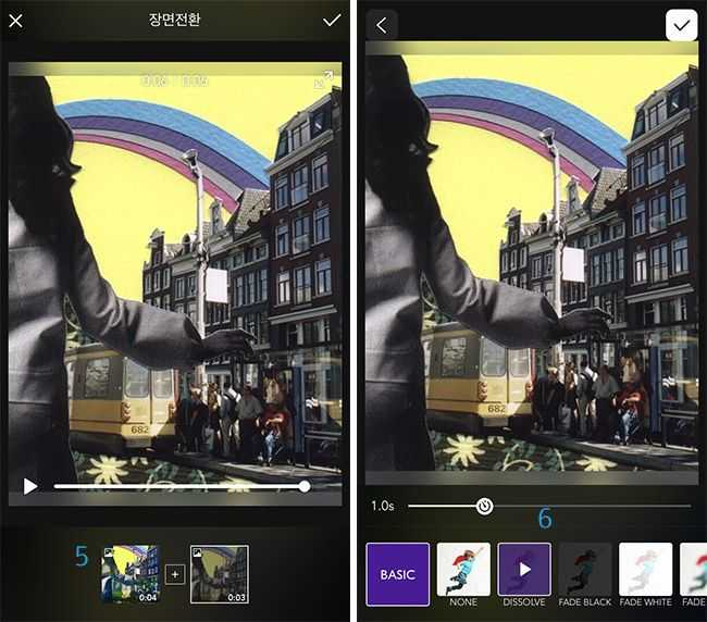 Moldiv VideLab to add transitions to photos, applied on videos of re,play404 Gifts
