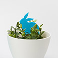 Rabbit plant marker - 3D print file download by re,play404
