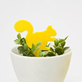 Squirrel plant marker - 3D print file download by re,play404