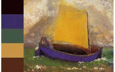 Purple color scheme from Redon's Mysterious Boat