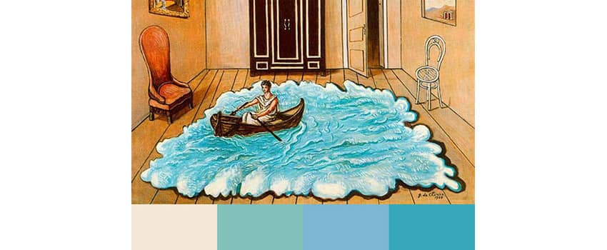 Pale blue color palette on a blog post of re,play404 Gifts