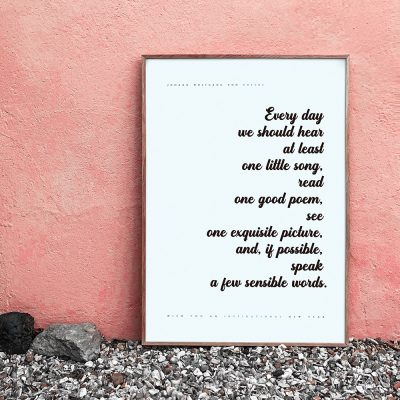 Inspirational quote print on Etsy - designed by re,play404